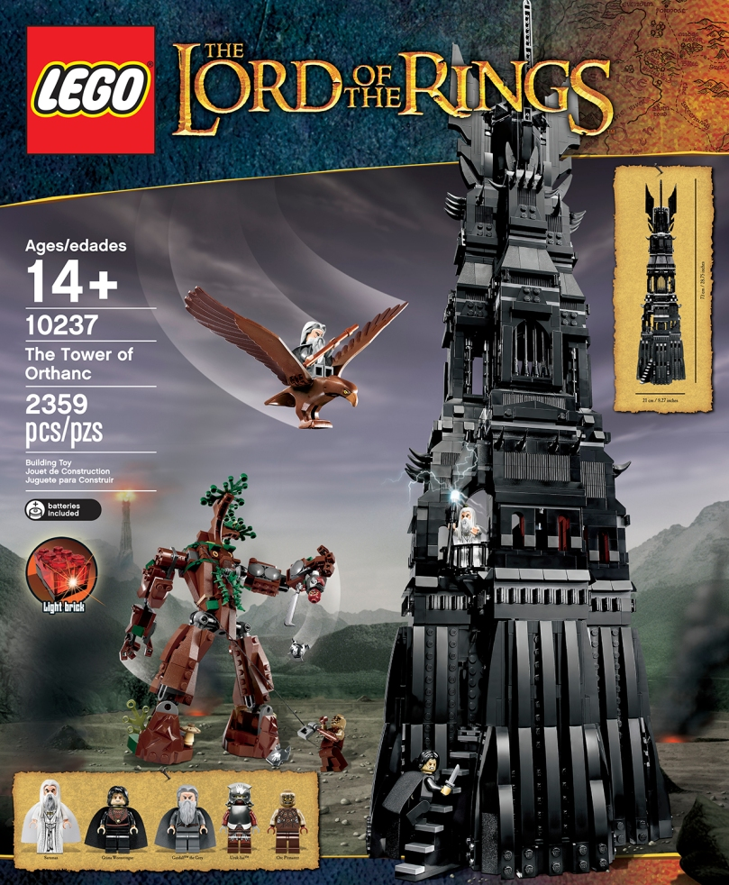 LEGO The Lord Of The Rings 10237 Tower of Orthanc Box