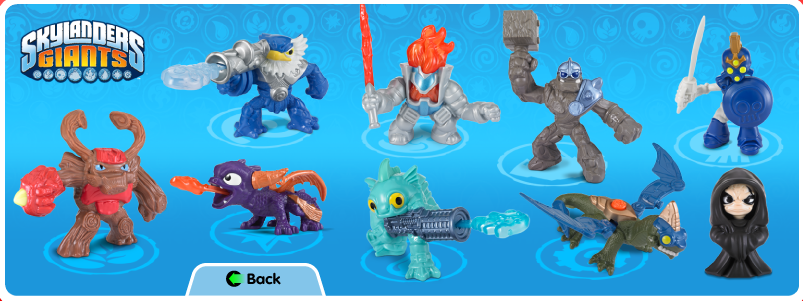 McDonalds Happy Meal Skylanders Giants