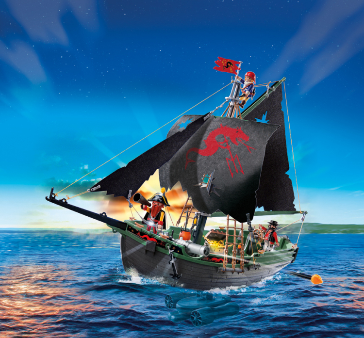Playmobil 5238 Pirates Ship with RC Underwater Motor