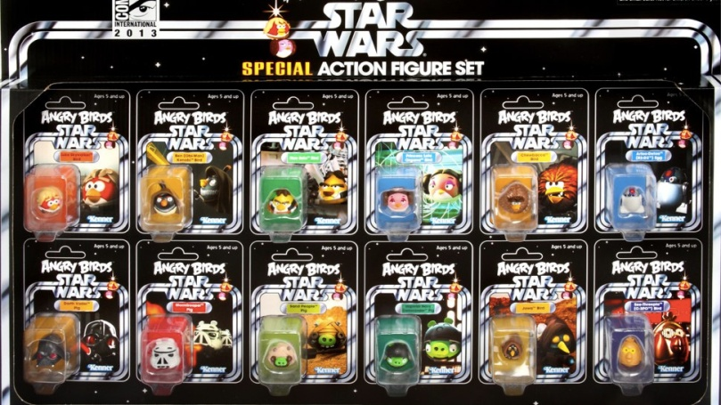 Star Wars Angry Birds San Diego Comic Con 2013 Exclusive Action Figure Set