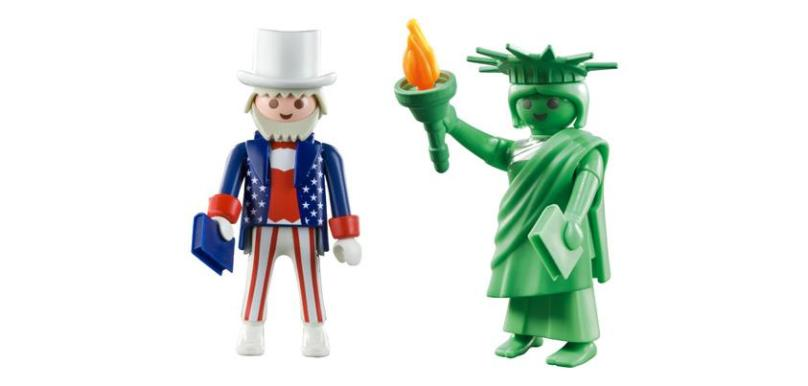 Playmobil Uncle Sam and Statue of Liberty