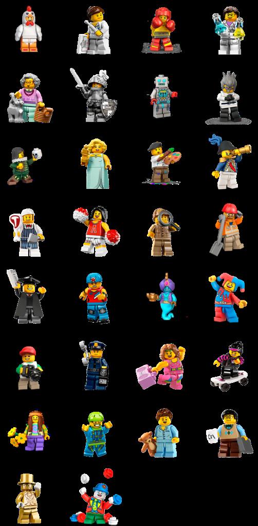 LEGO Minifigure Facebook Stickers