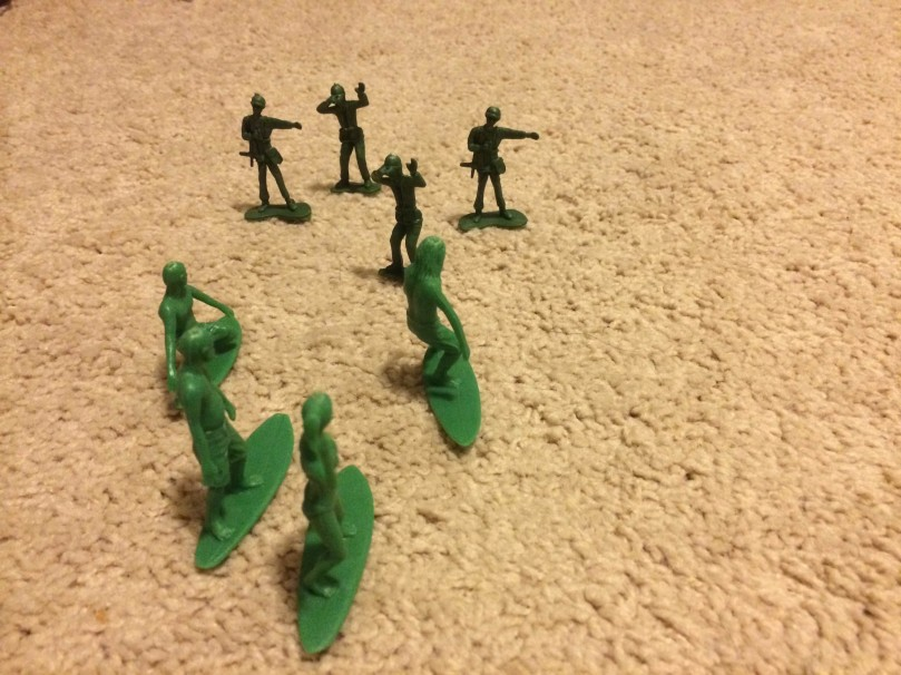 AJs Toy Boarders Vs Green Plastic Army Men - 1