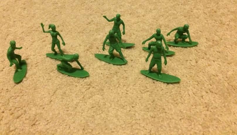 AJs Toy Boarders Vs Green Plastic Army Men - 2
