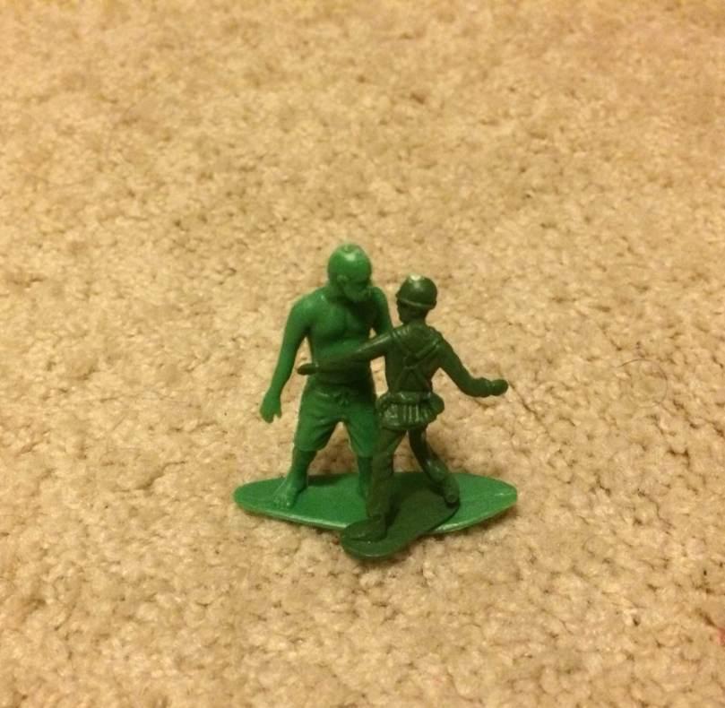AJs Toy Boarders Vs Green Plastic Army Men - 4