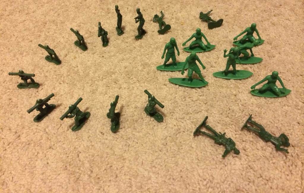 AJs Toy Boarders Vs Green Plastic Army Men - 5