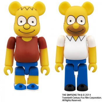 BEARBRICK THE SIMPSONS - BART SIMPSON AND HOMER SIMPSON