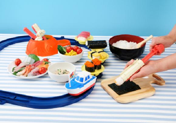 Takara Tomy Arts Cho Niginigi Kaitenzushi (Super Energetic Revolving Sushi) set