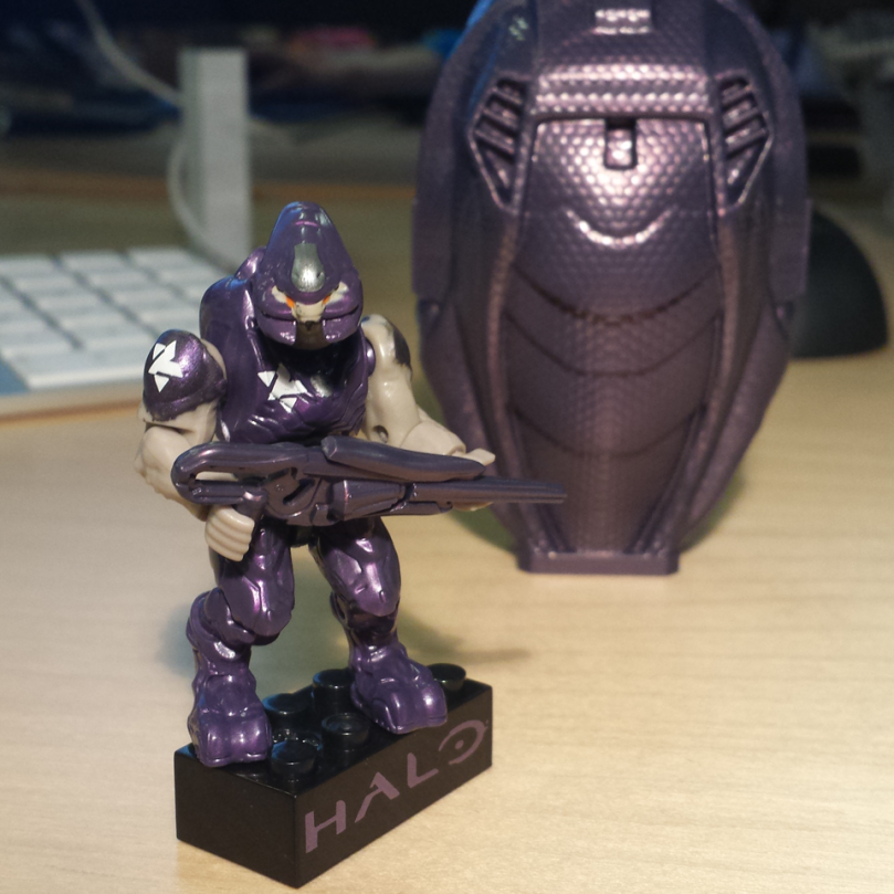 Halo Mega Bloks  97356 Purple Elite Drop Pod (Metallic Series)