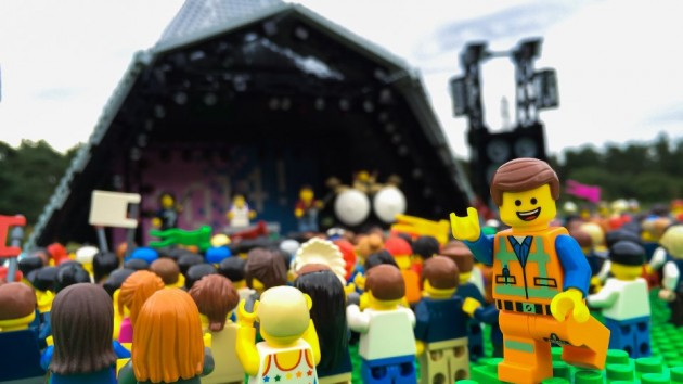 LEGO Emmet at Glastonbury