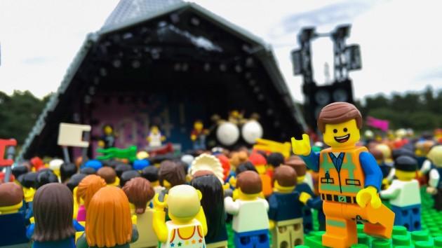 LEGO Emmet at Glastonbury